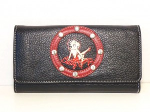 Betty Boop Tri-fold Wallet #052 Leg Up Design Red Ring