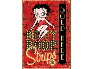 Betty Boop Tin Sign (comic) Strips Sold Here Design