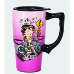 Betty Boop Travel Mug Biker Design (ceramic)