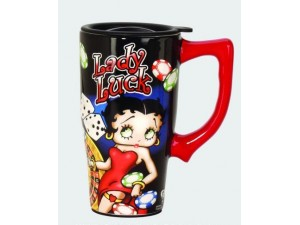 Betty Boop Travel Mug Lucky Lady Design (Ceramic)