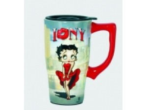 Betty Boop Travel Mug I Love New York Design (Ceramic)