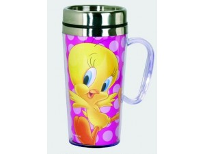 Tweety Bird Travel Mug 15 Ounce Acrylic