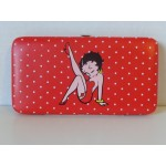 Betty Boop Clutch Purse Flat Clasp Wallet Leg Up Design