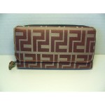 Women Wallets #11 Brown With Zippered Compartment