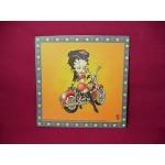 Betty Boop Mouse Pad Biker Design