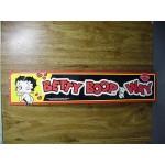 "Betty Boop Tin Sign ""betty Boop Way"" Design"