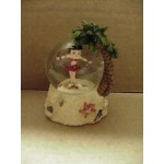 Betty Boop Water Ball Tropical Design Mini W6956 (retired Item)