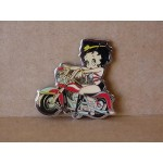 Betty Boop Magnets Lot #31 Two Pieces Sitting On Motorcycle Design (retired Items)
