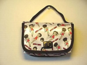 Betty Boop Pocketbook / Purse #65 Multi Poses Design White & Black