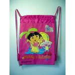 Dora The Explorer Book Bag / Cinch Sack Dark Pink #28