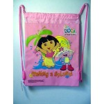 Dora The Explorer Book Bag / Cinch Sack Light Pink #27