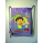 Dora The Explorer Book Bag / Cinch Sack Purple #29