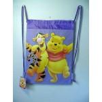Winnie The Pooh & Tigger Book Bag / Cinch Sack Purple #15
