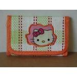 Hello Kitty Mini Tri Fold Wallet Orange #41
