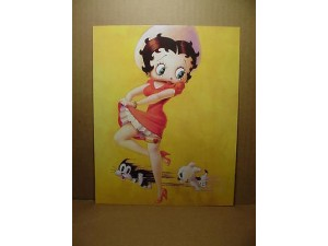 Betty Boop Post Card #07 With Pudgy Design 8x10