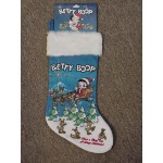 Betty Boop Christmas Stocking (sleigh)