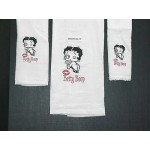 Betty Boop Bath Towels 3 Pc Set Kisses Design