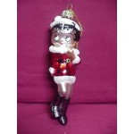 Betty Boop Ornament Glass Santa Claus