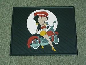 Betty Boop Rear Car Mats Biker Design 1-pair