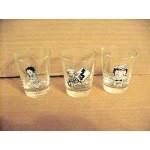 Betty Boop Shot Glasses Three (3) Piece Set Biker Designs
