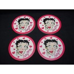 Betty Boop Coasters 4 Piece Set Hearts Design (retired)