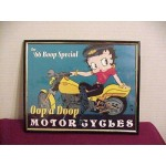 Betty Boop Picture 8x10 Biker Design