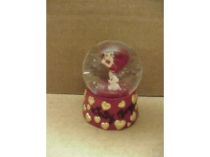 Betty Boop Water Ball Heart With Pudgy Design Mini W6957 (retired Item)