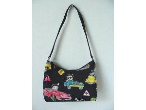 Betty Boop Pocketbook / Purse #24 Hobo Design Cars