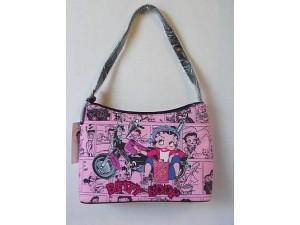 Betty Boop Pocketbook / Purse #17 Medium Hobo Bag Biker Gas Can Design Pink