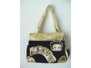 Betty Boop Pocketbook / Purse #07 Black Velour