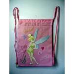 Tinkerbell Book Bag / Cinch Sack Light Pink #06