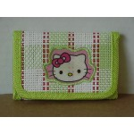 Hello Kitty Mini Tri Fold Wallet Green #42