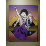 Betty Boop Post Card Leg Up Design 11x14 #01