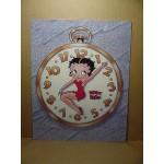 Betty Boop Post Card #13 Clock Design 8x10