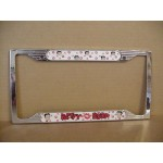 Betty Boop License Plate Frame  Metal  Faces & Kisses Design