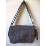 Pocketbook / Purse #09 Shoulder Bag With Front Flap Black