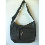 Pocketbook / Purse #10 Shoulder Bag With Front Cell Phone Holder Black