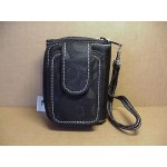Wristlet Wallet Combination #03 Black With White Stitching