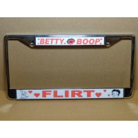 Betty Boop License Plate Frame Metal Flirt Design