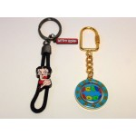 Betty Boop Key Chains Lot #14 Slider & Spinner Designs Two Pieces.