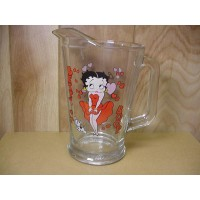 Betty Boop 60 Oz Heavy Duty Glass Pitcher