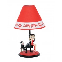 Betty Boop Lamp Sitting On A Piano Design