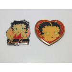 Betty Boop Magnets Lot #13 Boop Power & Heart Face Designs Two Piece Set
