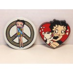 Betty Boop Magnets Lot #22 Peace Sign & Heart With Pudgy Designs Two Piece Set
