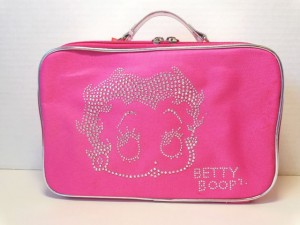 Betty Boop Cosmetic Bag Face Design Pink