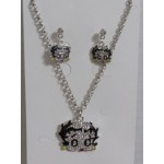Betty  Boop Necklace And Earrings Set