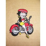 Betty Boop Patch Lot #01 Sitting On Motorcycle Design Large