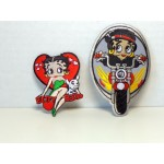 Betty Boop Patch Lot #21 Heart With Pudgy & Biker Designs