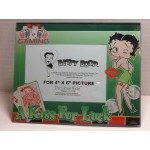 Betty Boop Picture Frame A Kiss For Luck Design