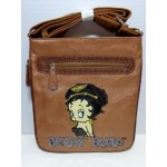Betty Boop Pocketbook / Purse #79 Messenger Bag Biker Design Bronze